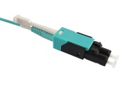 Duplex patch cord, LC-LC, 50/OM3, UB, turquoise