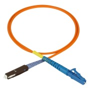 Attenuating patch cord, 1 m, LC/PC-MU/PC