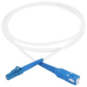 Subscriber patch cord, SC/PC-LC/PC, 9/OS2/2800, white