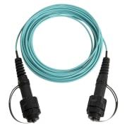 2-fiber IP-LC m/støvhette, 62.5/OM1