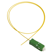 Fiberhale, SC/APC, 9/OS2/900, 1.5 m, gul