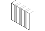 """Stativ, 4x19"""", H180xD70, 3 vertikalføringer."""