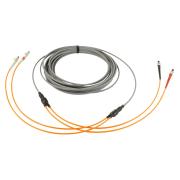 2-fiber AXAI, 62.5/OM1, ST-ST