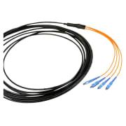 4-fiber feltkabel, 62.5/125, SC-SC