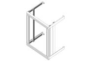 Flexi Rack ETSI, B600xH600xD400, veggmontert