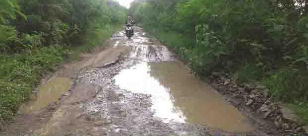Warga Desa Bendung Keluhkan Jalan Rusak dan Berlubang
