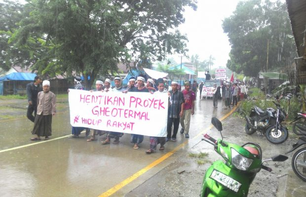 Warga Padarincang Tuntut Pembangunan Geothermal Di Hentikan