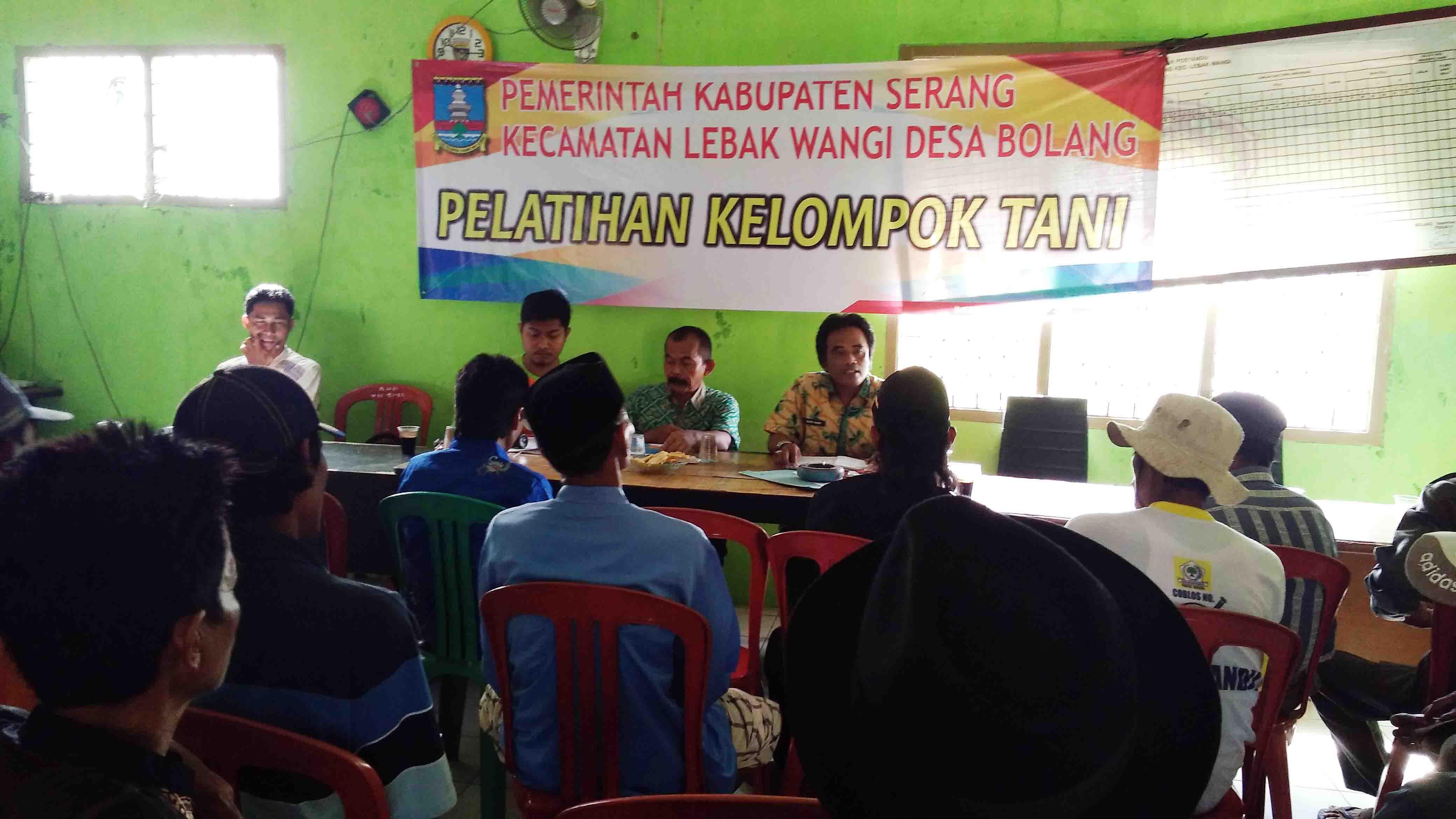 Warga Desa Bolang Kecamatan Lebak Wangi IkutiPenyuluhanPelatihan Pertanian