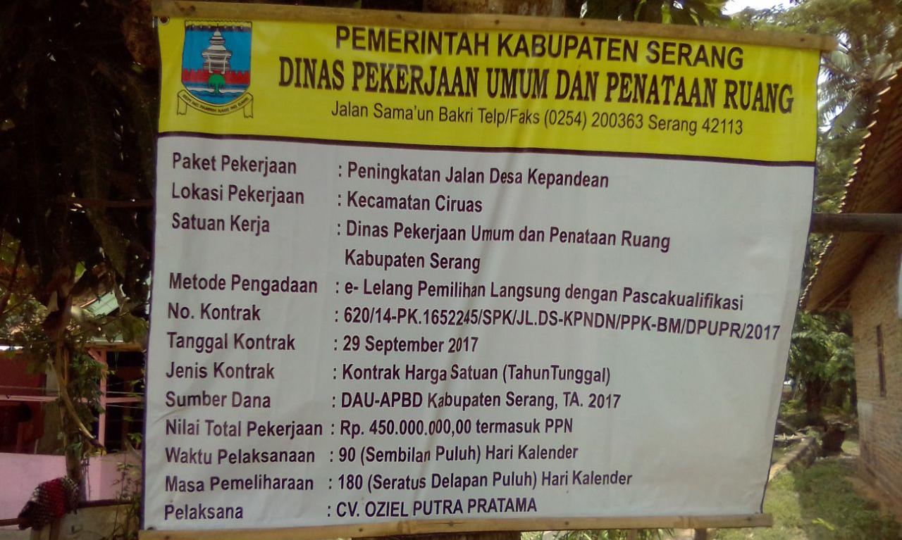 Betonisasi Jalan desa Kepandean Di Duga Di Kerjakan Asal Jadi