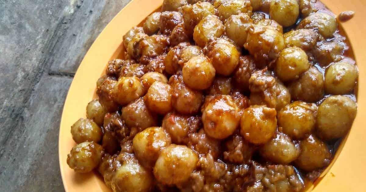 Resep cilok bumbu Sambal Kacang, enak