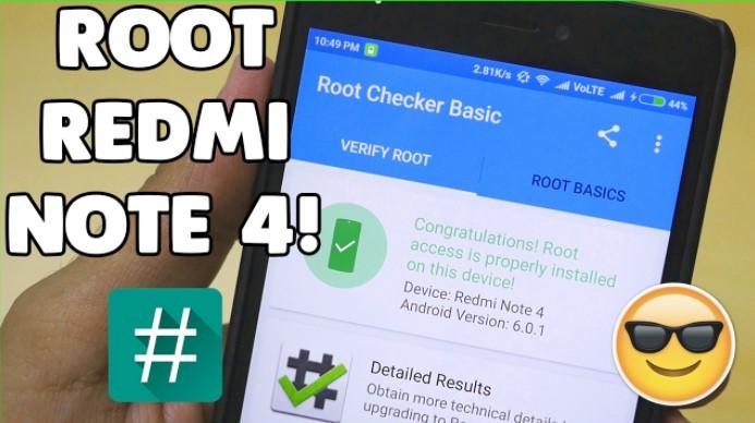 Cara Mudah Root Xiaomi Redmi 4X Tanpa Komputer PC