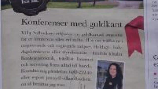 Tidningsannons i Kalmarposten