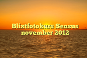 Blixtfotokurs Sensus november 2012