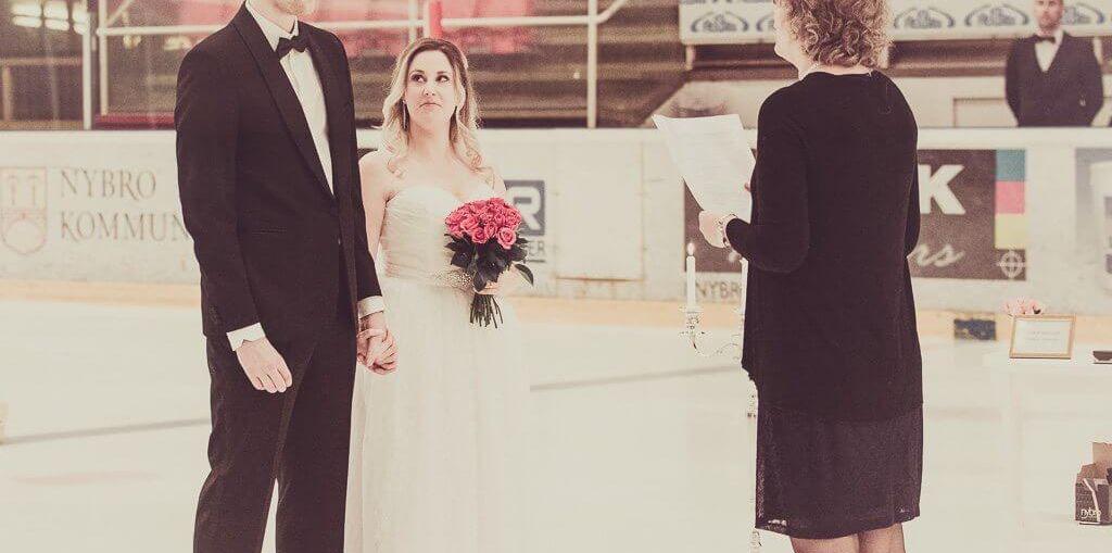 Bröllop i ishall