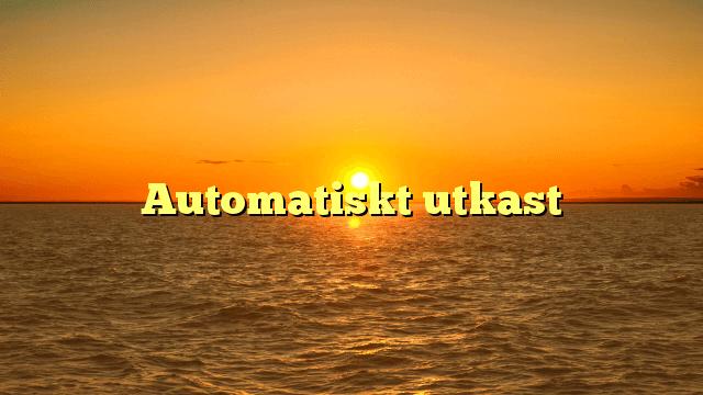Automatiskt utkast