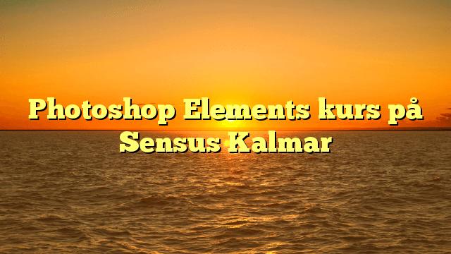 Photoshop Elements kurs på Sensus Kalmar