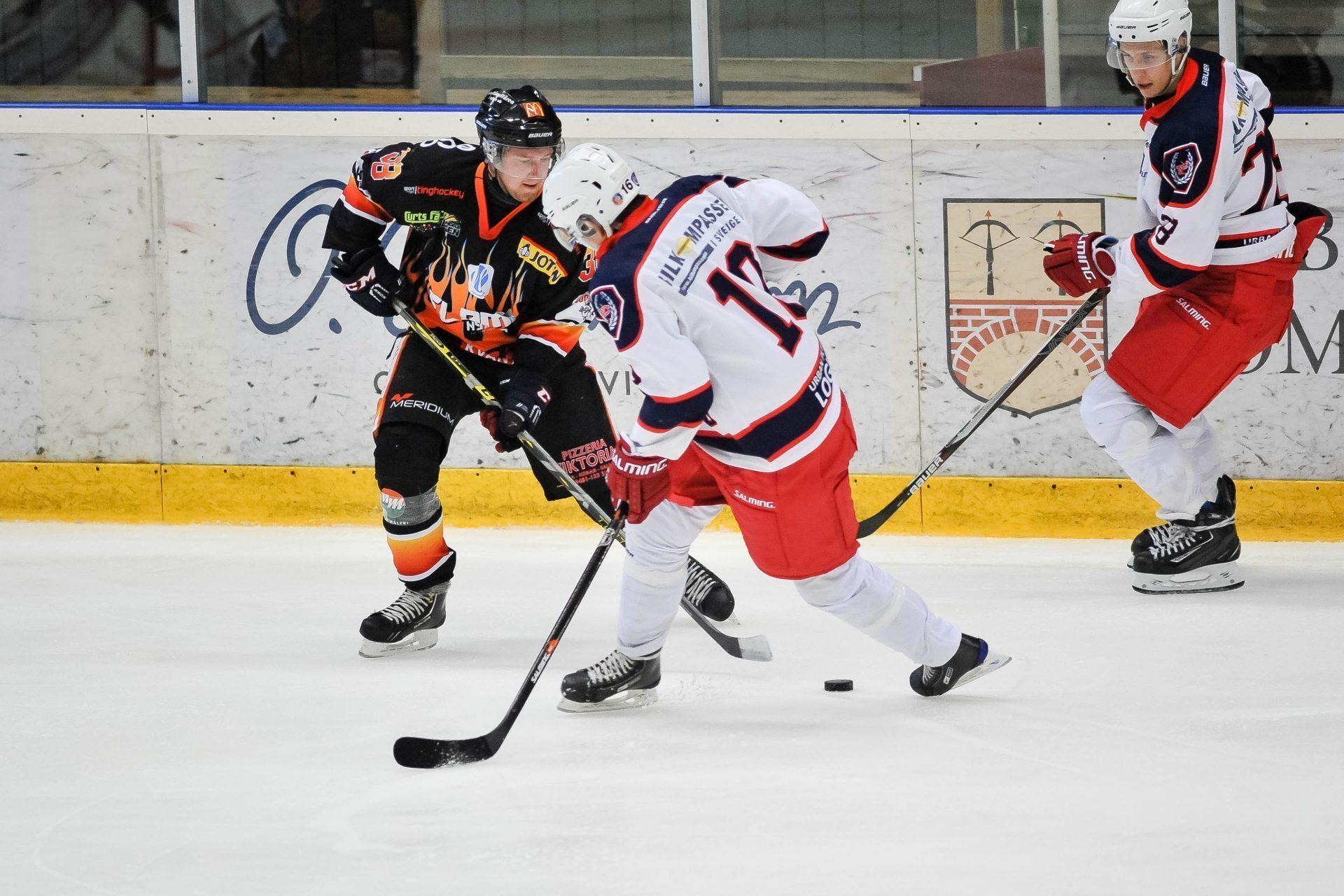 Träniingsmatch mellan Nybro Flames och Nässjö HC