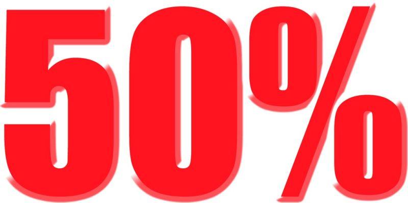 50 % rea