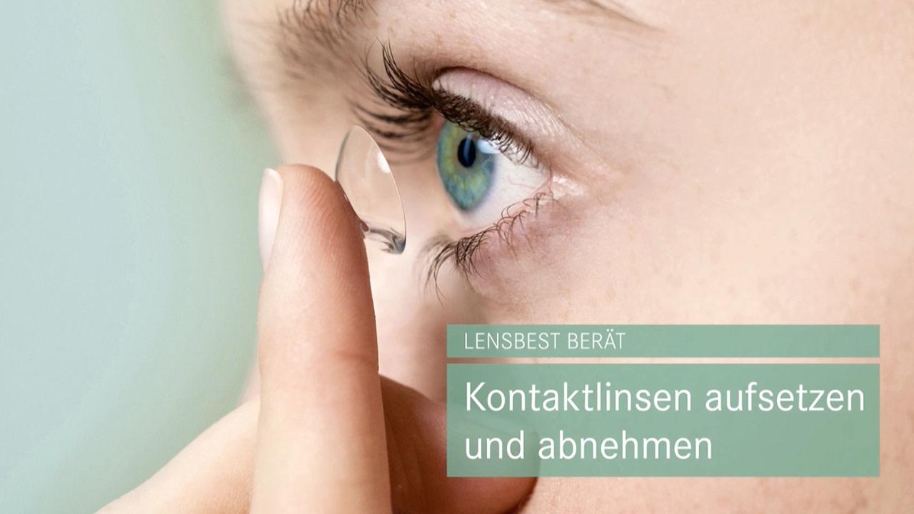 Kontaktlinsen aufsetzen und abnehmen