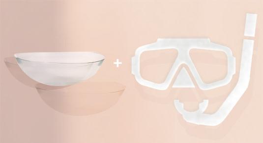 Die ideale Kombination zum Schwimmen sind eine Schwimmbrille und Kontaktlinsen.