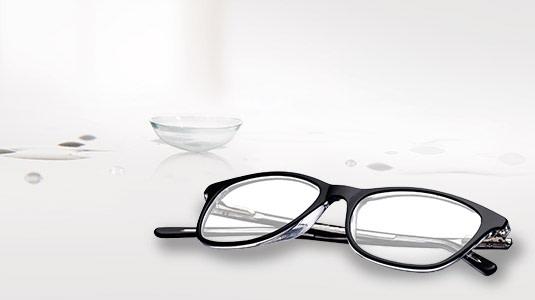 Brille oder Kontaktlinsen