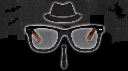 Wayfarer Sonnenbrille zaubert Blues Brothers Look an Halloween.