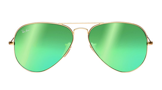 Ray-Ban Pilotenbrille mit grünen Gläsern