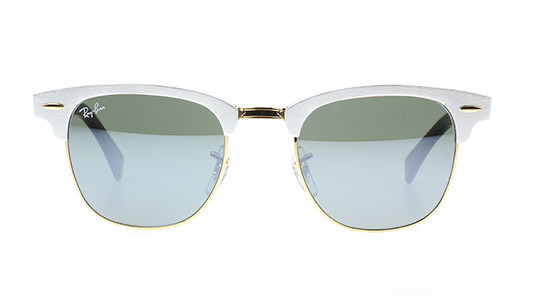 Ray-Ban Clubmaster mit silber Browline