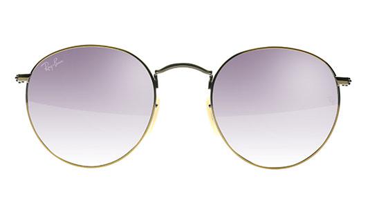 Runde Ray-Ban Brille mit lila Gläsern