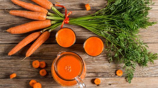 Karotten sind gut für die Augen.