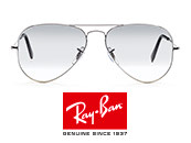 Ray-Ban Aviator Metal Small Silver/Crystal Grey Gradient