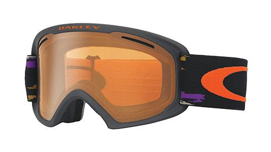 Oakley Skibrille mit orangener Monoscheibe