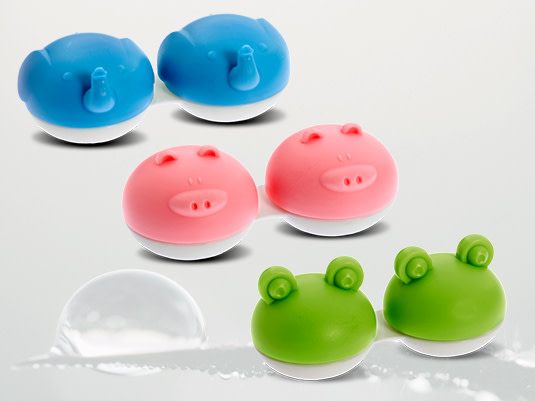 Farbenfrohe Kontaktlinsenbehälter von Lensbest