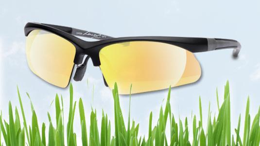 Sportbrille fürs Rad fahren im Freien