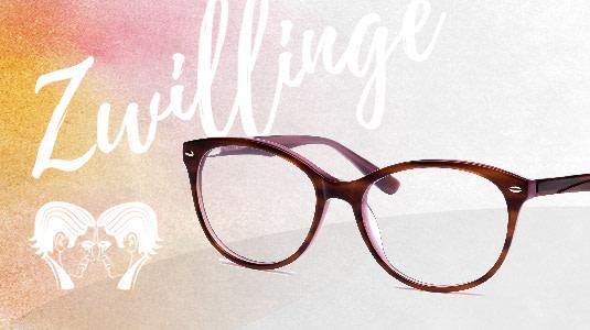 Brille für das Sternzeichen Zwillinge