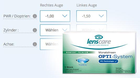 Torische Kontaktlinsen bestellen