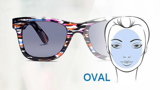 Ovale Gesichter können jede Sonnenbrillen Form tragen.