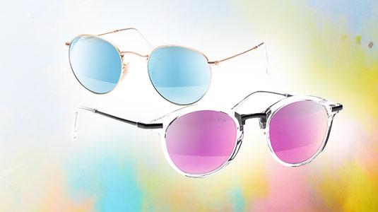 Bunte Sonnenbrillen sind der Trend auf jedem Festival