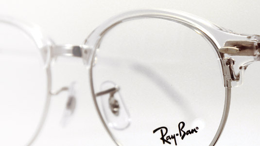 Die Ray-Ban Clubround in White Transparent