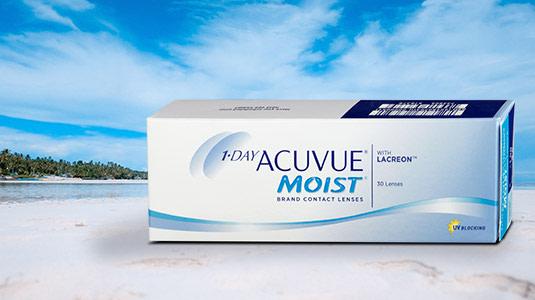 Acuvue Moist Linsen sind ideal für den Strandurlaub