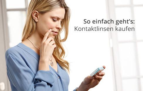 So einfach geht's: Kontaktlinsen online kaufen