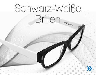Schwarz-weiße Brillen