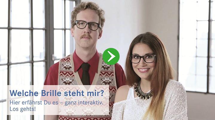 Comedian Uke Bosse und Stylistin Janina Cüpper im Lensbest Brillenberater - jetzt testen!