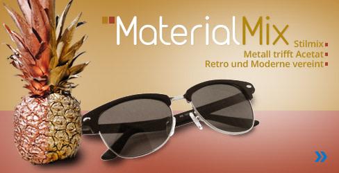 Material Mix Sonnenbrillen-Kollektion