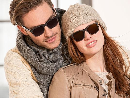 Eine Sonnenbrille im Winter
