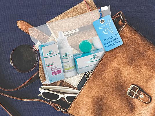 Pflegemittel in Reisegröße fürs Handgepäck