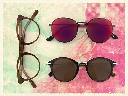 Drei Hippie Brillen