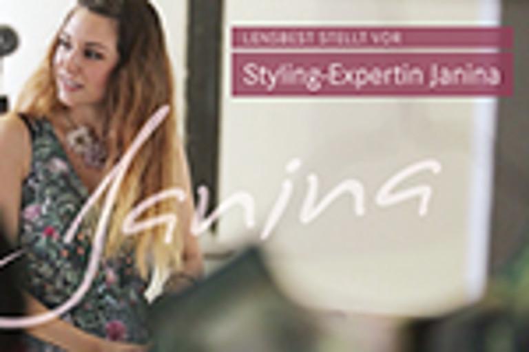 Janina Cüpper übernimmt das Brillen-Styling für Lensbest