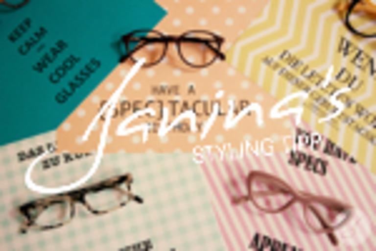 Janina' s Styling Tipp: Brillensprüche