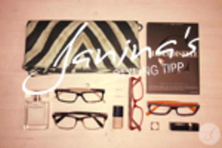 Janina's Styling Tipp: Eckige Brillen